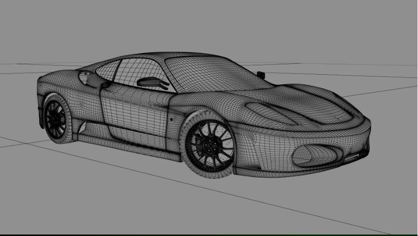 3d dublin car model Ferrari
