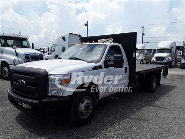 2014 FORD F350 FLATBED TRUCK #663194