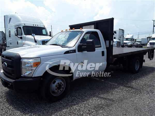 USED 2014 FORD F350 FLATBED TRUCK #663198