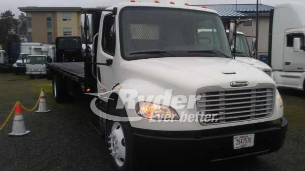 USED 2009 FREIGHTLINER M2 106 FLATBED TRUCK #668099