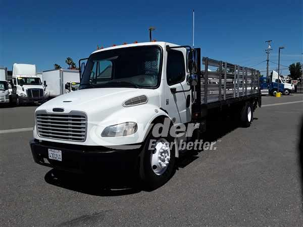 USED 2013 FREIGHTLINER M2 106 FLATBED TRUCK #662075