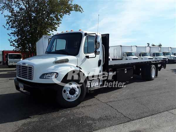USED 2013 FREIGHTLINER M2 106 FLATBED TRUCK #669196