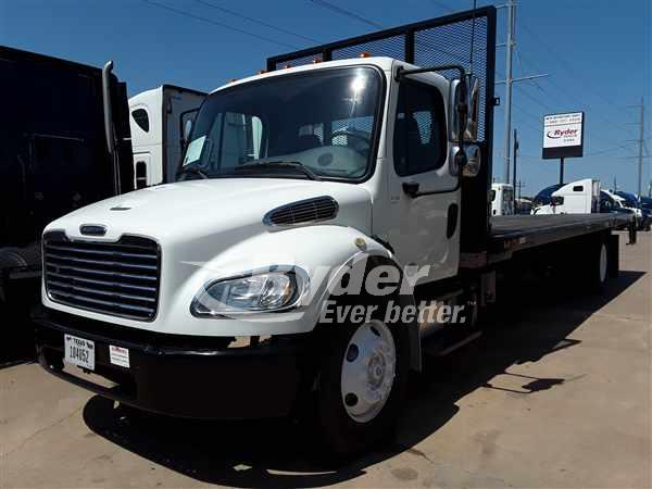 USED 2013 FREIGHTLINER M2 106 FLATBED TRUCK #662709