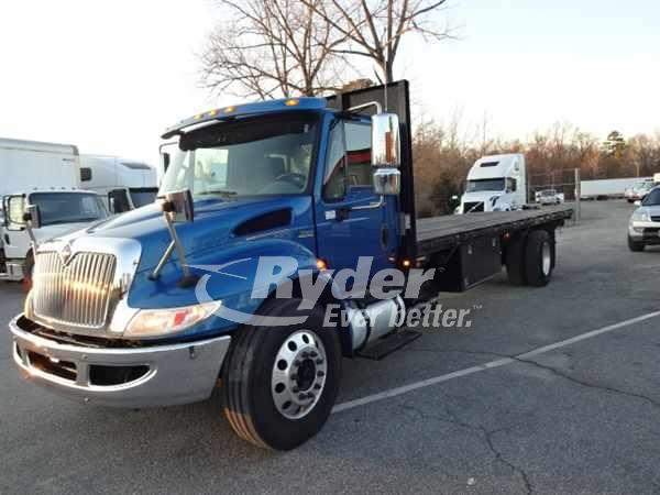 USED 2013 NAVISTAR INTERNATIONAL 4300 FLATBED TRUCK #660621