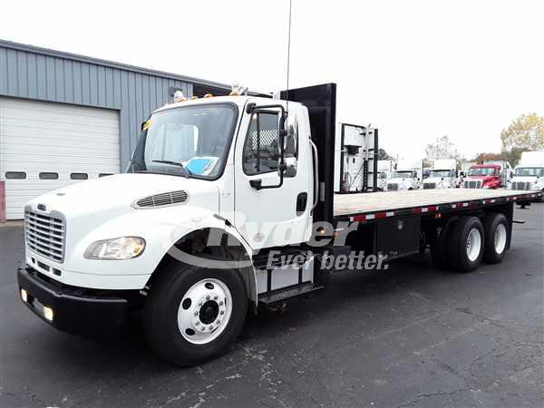 USED 2013 FREIGHTLINER M2 106 FLATBED TRUCK #668764