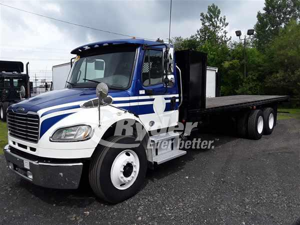 USED 2013 FREIGHTLINER M2 106 FLATBED TRUCK #662208