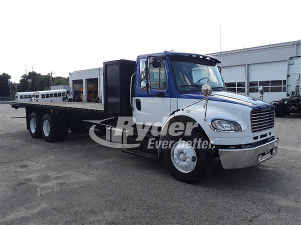 USED 2013 FREIGHTLINER M2 106 FLATBED TRUCK #662713