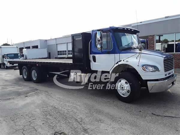 USED 2013 FREIGHTLINER M2 106 FLATBED TRUCK #662714