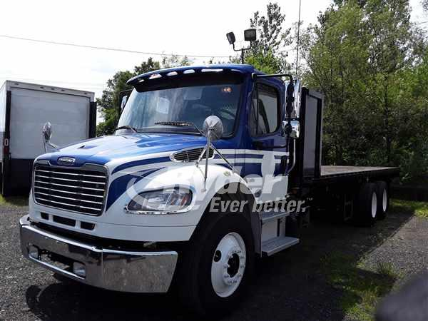 USED 2013 FREIGHTLINER M2 106 FLATBED TRUCK #662185