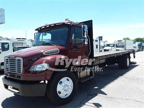 USED 2013 FREIGHTLINER M2 106 FLATBED TRUCK #661989