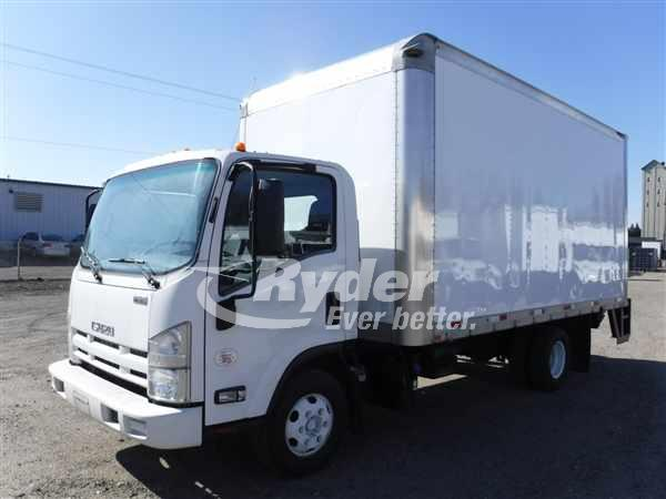 USED 2013 ISUZU NPR HD BOX VAN TRUCK #660593