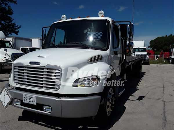 USED 2013 FREIGHTLINER M2 106 FLATBED TRUCK #663313