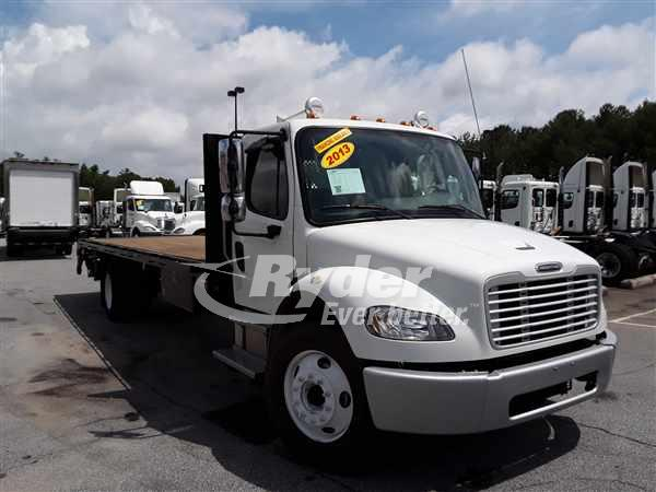 USED 2013 FREIGHTLINER M2 106 FLATBED TRUCK #664841