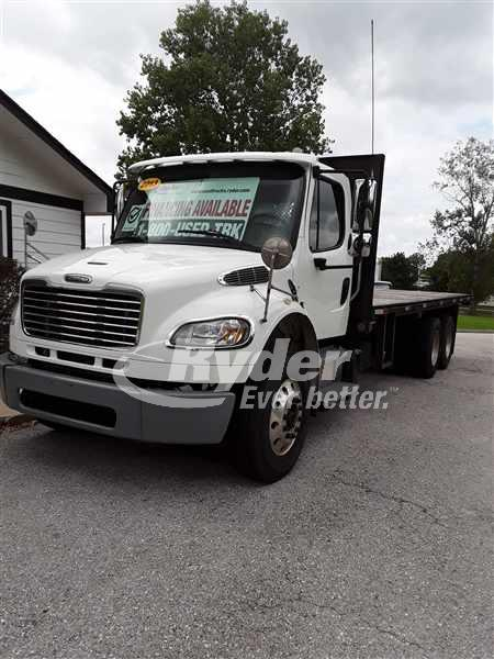 USED 2013 FREIGHTLINER M2 106 FLATBED TRUCK #662290