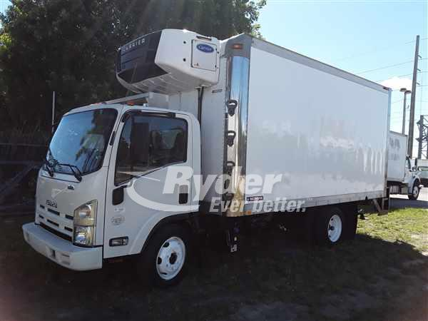 USED 2013 ISUZU NQR REEFER TRUCK #668785
