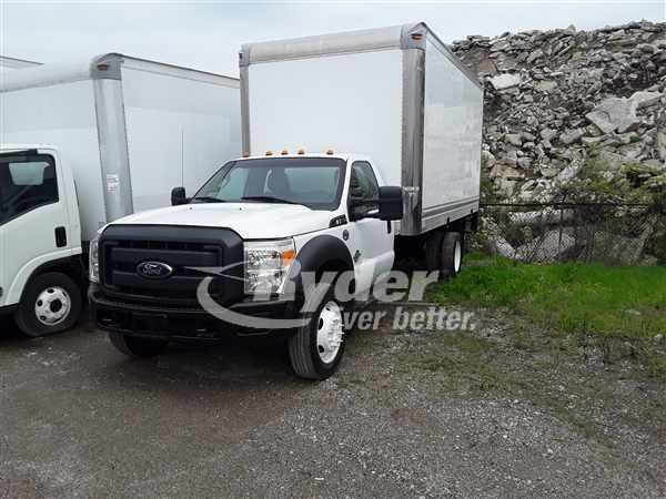USED 2013 FORD F550 BOX VAN TRUCK #660753