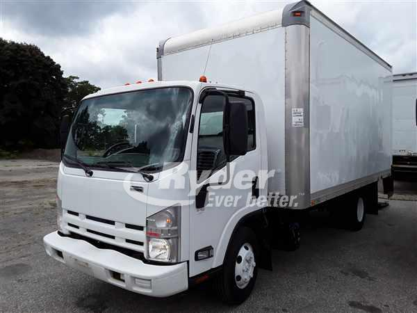 USED 2014 ISUZU NPR HD BOX VAN TRUCK #668141