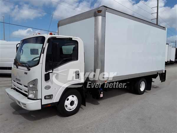 USED 2014 ISUZU NPR HD BOX VAN TRUCK #663631