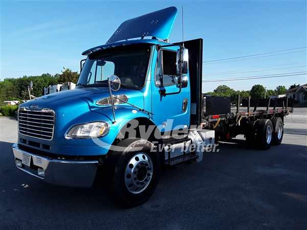 USED 2014 FREIGHTLINER M2 106 FLATBED TRUCK #660869