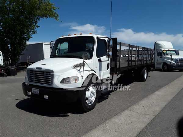 USED 2014 FREIGHTLINER M2 106 FLATBED TRUCK #661889