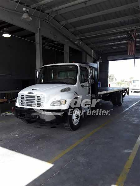 USED 2008 FREIGHTLINER M2 106 FLATBED TRUCK #660335