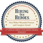 Weber Wounded Veteran and Caregiver Award Finalist Websticker