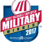 Most Valuable Employer Military Winner 2017 Badge