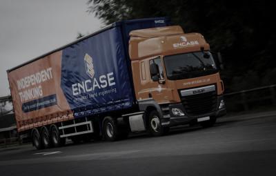 ENCASE liveried vehicle in transit