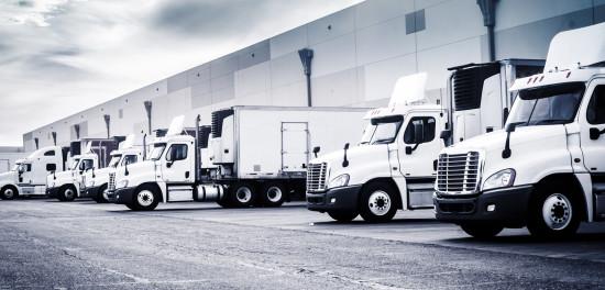 Trucks in loading bay