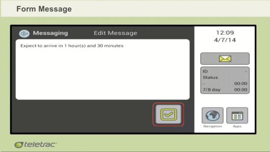 Teletrac Form Screen capture