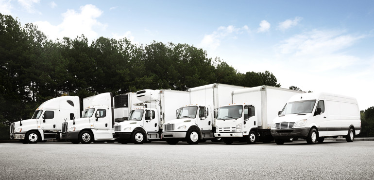 Truck fleet without logos