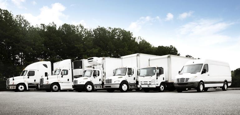 Truck fleet without logos