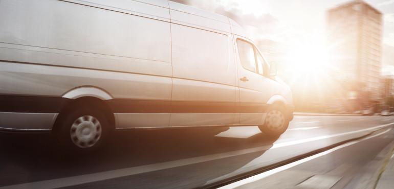 Commercial cargo van
