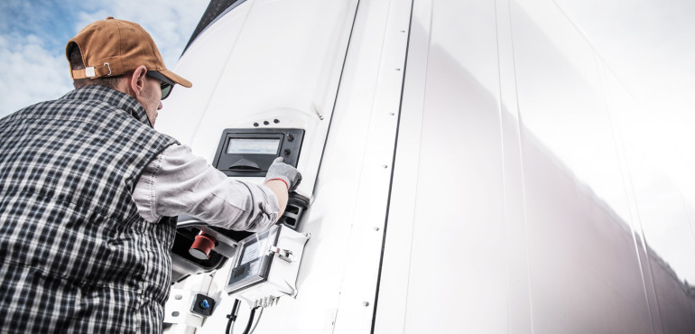Refrigerated truck inspection