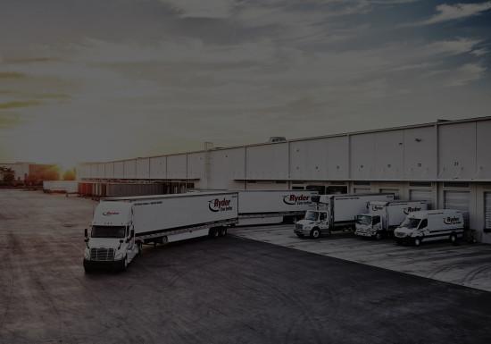 Truck leaving warehouse dock