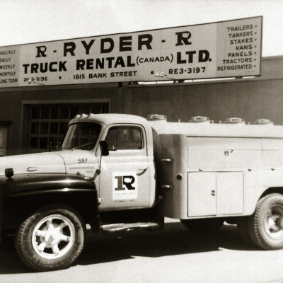 Ryder Truck in front of a Rental Center