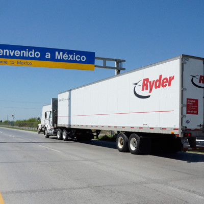 Ryder Truck driving to Mexico