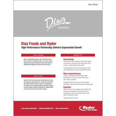 Diaz Foods Case Study