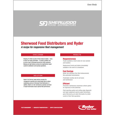 Sherwood Foods Case Study