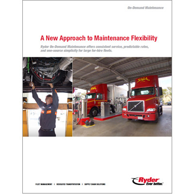 On Demand maintenance Brochure