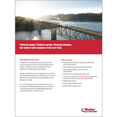 National Rental Program Brochure