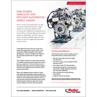 Automotive Tier 1 Brochure