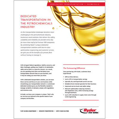 Petroleum and Chemicals Capabilities Brochure