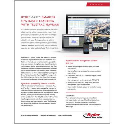 Rydesmart app Capabilities Brochure