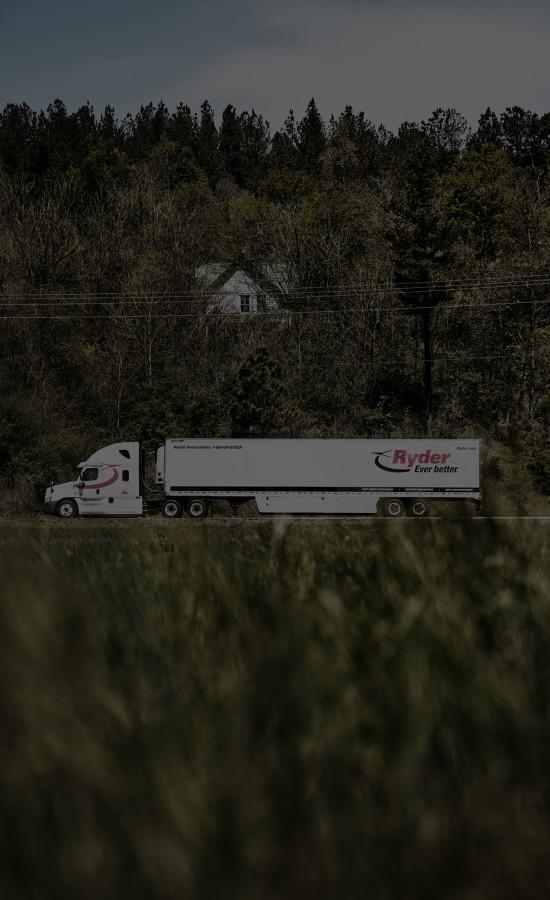 Ryder Truck Side Shot from Far Away