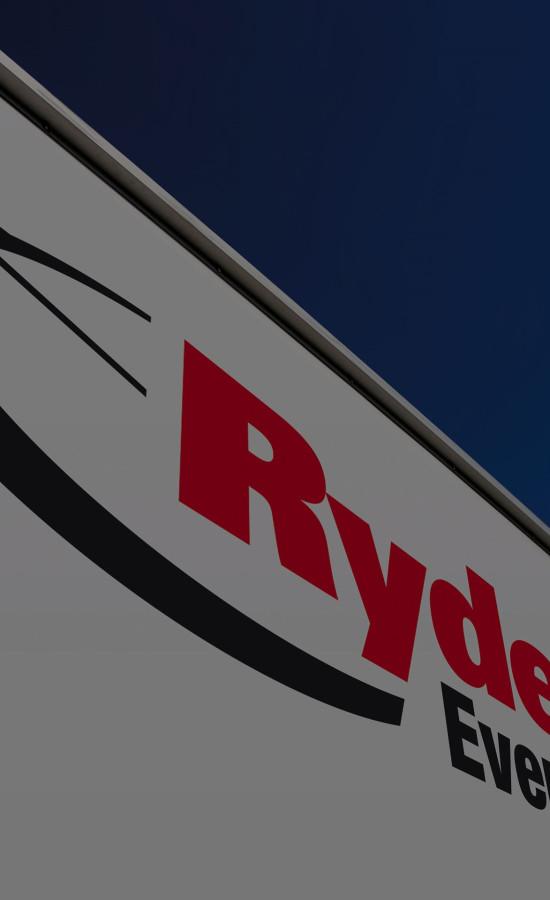 Ryder Ever Better Logo on side of trailer
