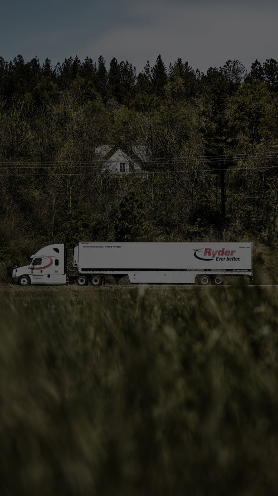Ryder Truck Side Shot from Far Away