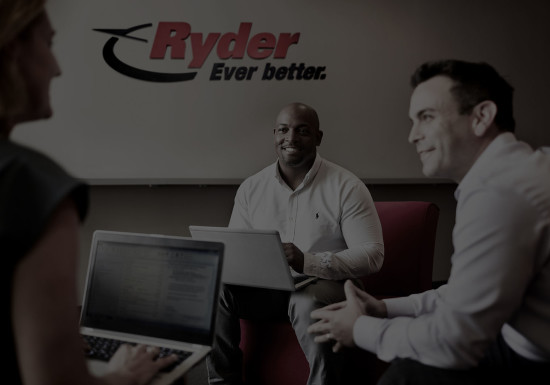 Ryder Employees collaborating at work