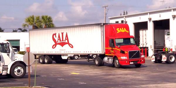 Saia Truck in lot