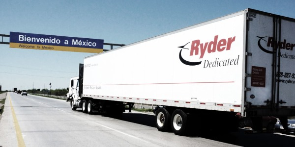 Ryder Dedicated Truck driving on the road